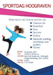 sportdag Hoograven affiche