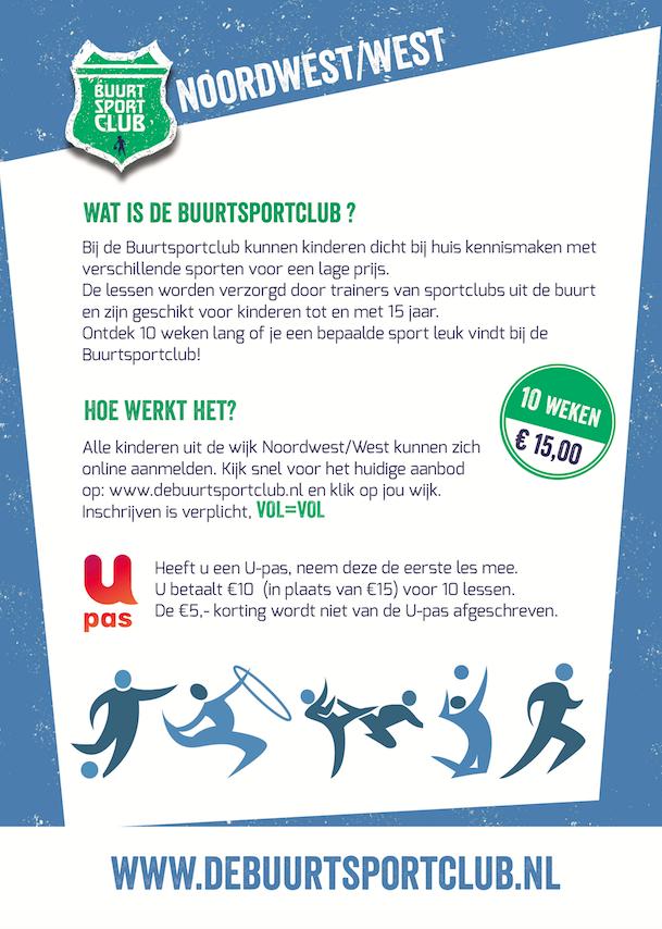 Buurtsportclub flyer achterkant