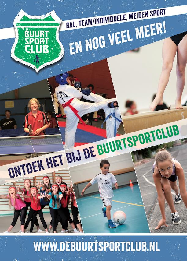 Buurtsportclub flyer voorkant